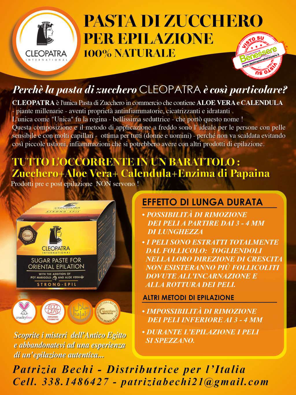 epilazione naturale cleopatra international